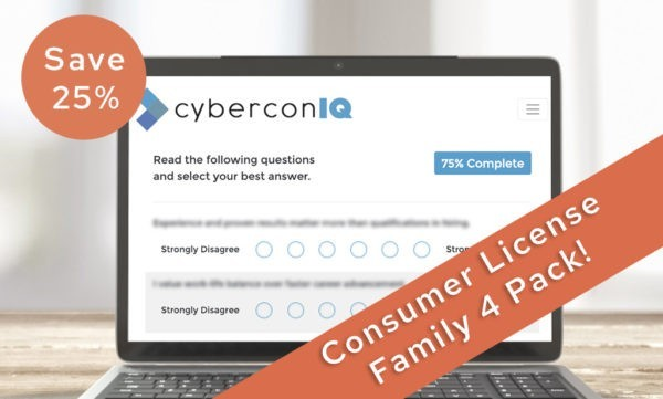 Combo Pack - 4 cyberconIQ Assessment Licenses for the price of 3